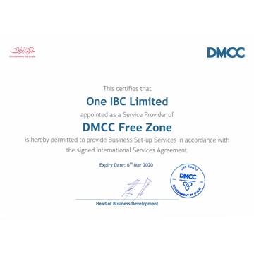 Se otorgó One IBC como proveedor de servicios de DMCC Free Zone