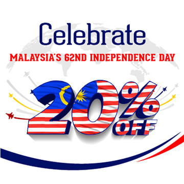 Celebrate Malaysia's 62nd Independence Day with 20% from ONE IBC's Services