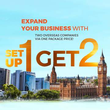 Expand your business with two overseas companies via one package price