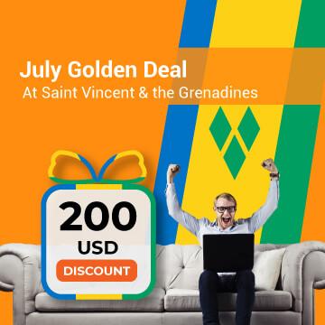 July Golden Deal at Saint Vincent & the Grenadines