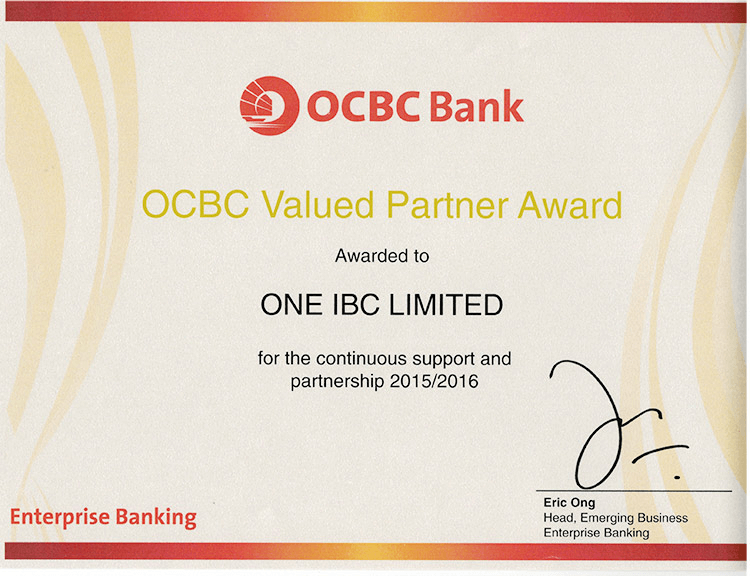 One IBC and OCBC - Proud of Partnership