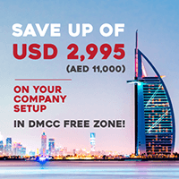 Save up of USD 2,995 ( AED 11,000) on your company setup in DMCC Free Zone!