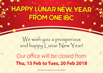 Happy Lunar New Year 2018 - Year of the Dog & Festive Opening Hour Notice