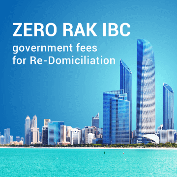 ZERO RAK IBC government fees for Re-Domiciliation